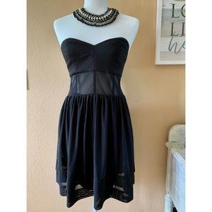 NEW! 🎉 Free People Mesh Black Strapless Dress 💕